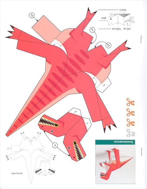 Dinosaur Papercraft - kid agami dinosaurs 031723 details rainbow resource