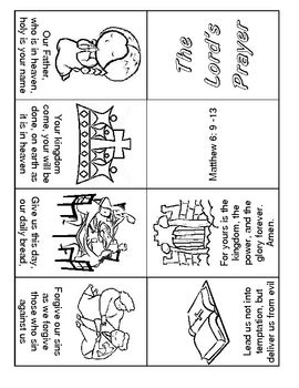 lord's prayer 1 page minibook  easy to read by jennilee