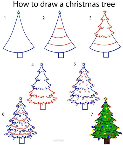 how to makeacheistmas tree stau up how to draw a tree step by step drawing tutorial with pictures cool2bkids how to