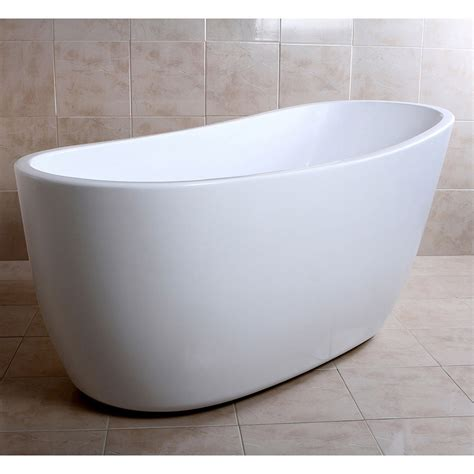 slipper bathtub modern white kono freestanding single slipper bathtub