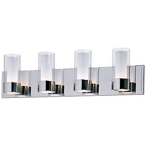 Chrome 4 Light Bathroom Fixture by Maxim Silo Polished Chrome 4 Light Bathroom Light Fixture