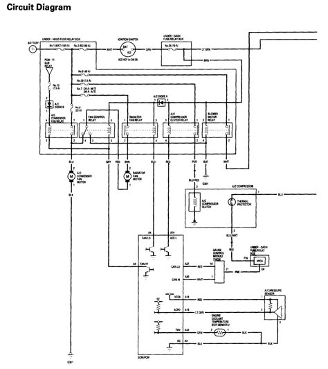 1995 honda civic si wiring diagram wiring diagram with