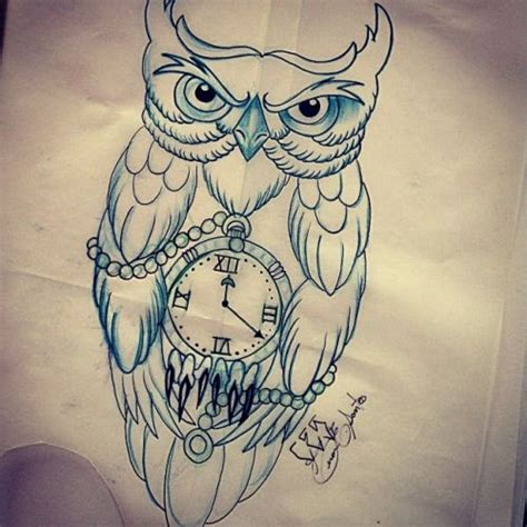 tattoo owl time 17 best images about tattoos on pinterest clock tattoos