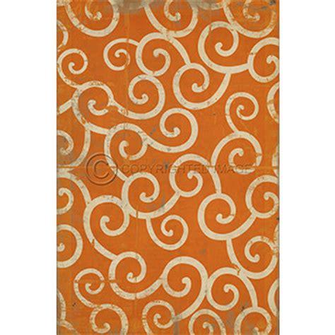 orange swirl pattern indoor outdoor rug