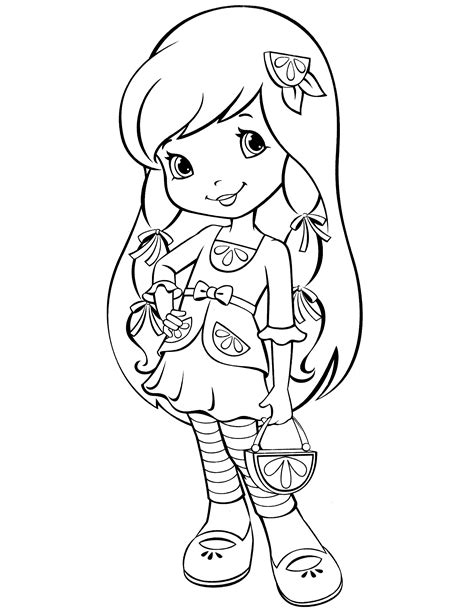 strawberry shortcake princess coloring pages allmadecine