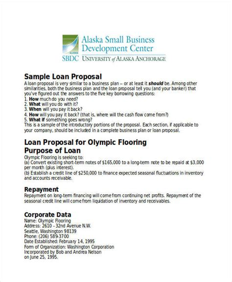business template for bank loan 33 business formats