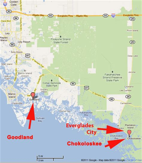 everglade city florida map everglades area tours map and directions