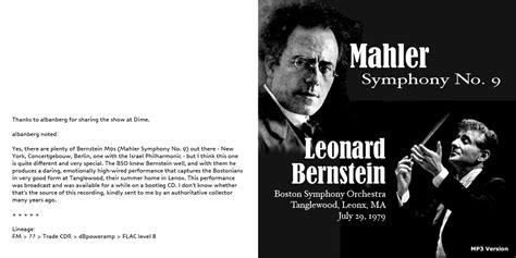 möbel mahler len roio 187 archive 187 leonard bernstein mahler no 9