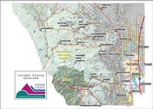 larimer county map colorado counties