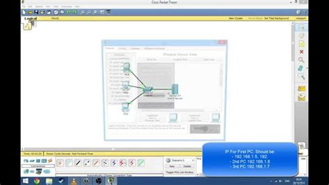 cisco packet tracer dhcp tutorial cisco tracer packet dhcp server set up tutorial youtube