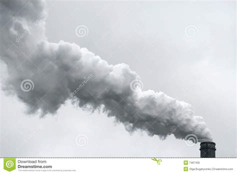 Smoke Comes Out Of Fireplace by Pollution Industrial Smoke Smog Out Of Chimney Royalty