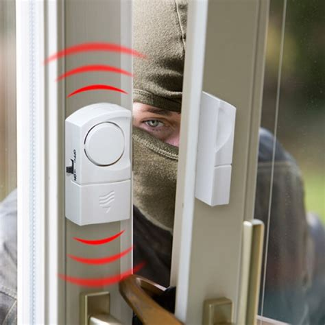 pack de 2 alarmes de portas e janelas sirene stock