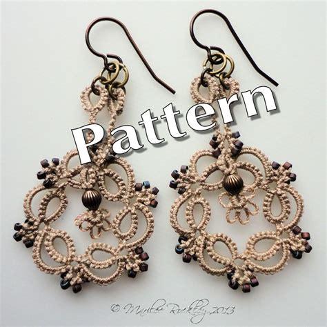 etsy tatting pattern tatting pattern kinetic earrings pdf instant by yarnplayer