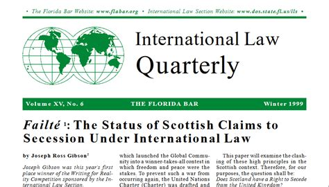 International Law Quarterly Winter 1999 International