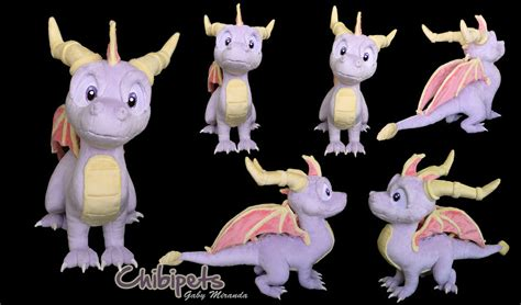 custom stuffed animals spyro custom plush by chibi pets on deviantart
