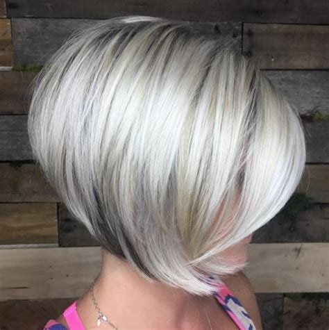 long bob low lights on silver hair 50 trendiest short blonde hairstyles and haircuts