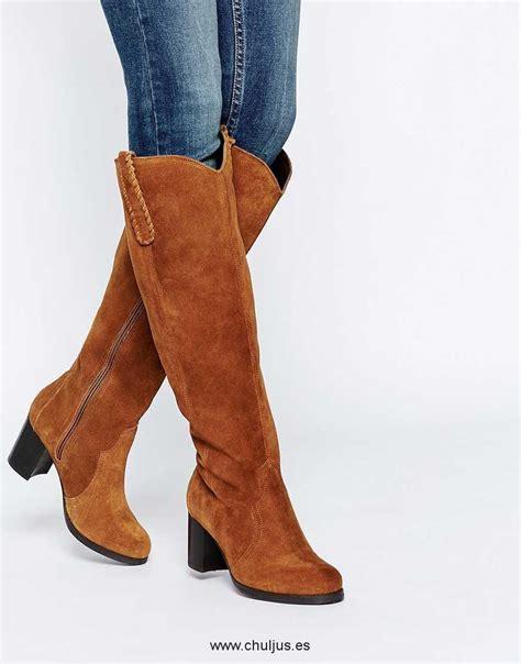new look premium block heeled knee high boot