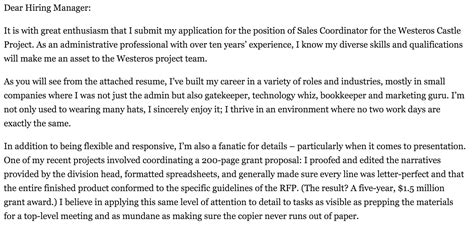 media sales coordinator cover letter regarding coordinator cover