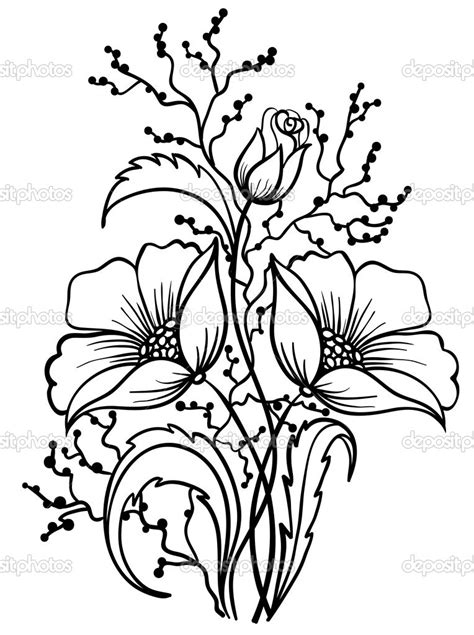 Outline Sketches Of Flowers by Black And White Flower Drawing Clipart Panda Free Clipart Images