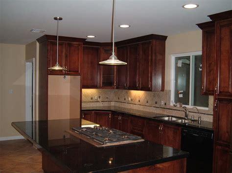 Mahogany Maple Kitchen Cabinets Custom Mahogany Stained Maple Kitchen