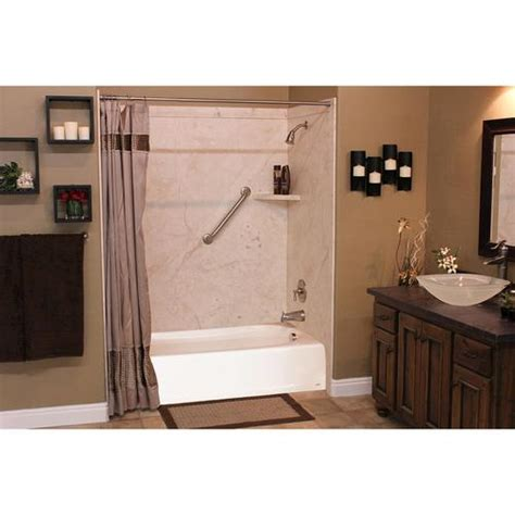 bathtub panel kits flexstone 60 quot x32 quot x60 quot elite 3 panel tub kit