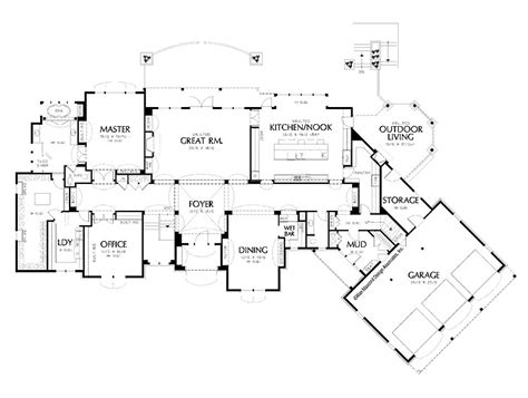 Luxury Floor Plan by House Plans Luxury House Plans
