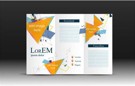 leaflet design in illustrator brochure design vector with modern trifold illustration