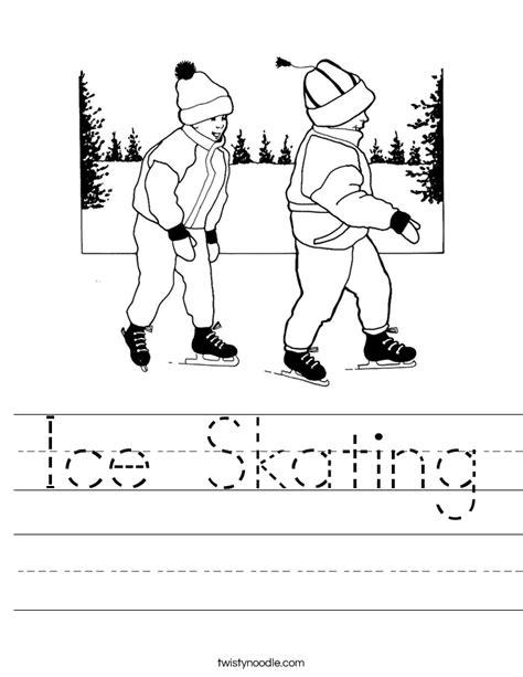ice skating free printables ice skating worksheet twisty noodle