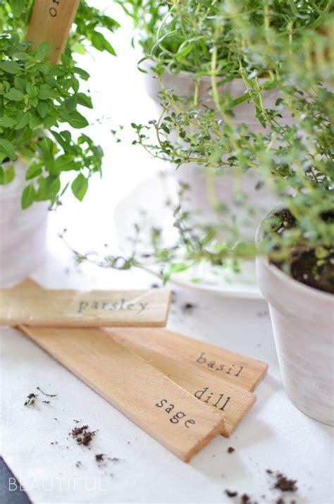diy herb garden carolina charm diy herb markers 16 a burst of beautiful