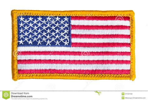 Patch Background Check American Flag Patch Isolated Royalty Free Stock Images