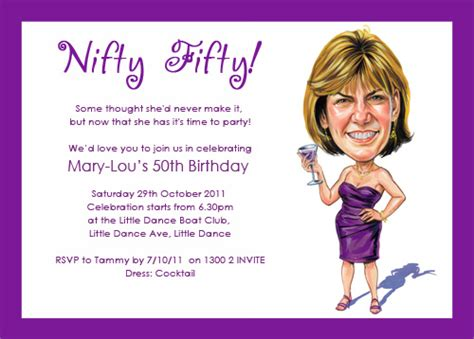 funny 50th birthday party invitations ideas drevio