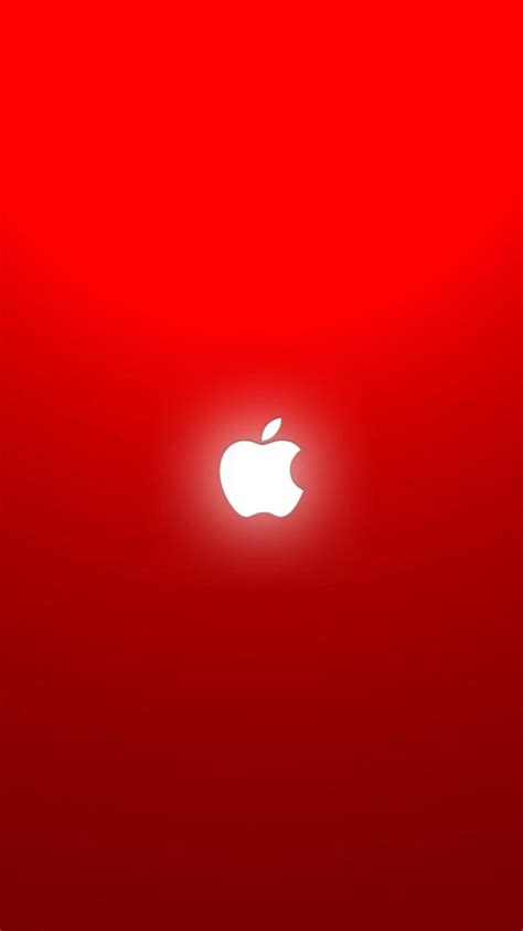 iphone apple logo red  apple papers