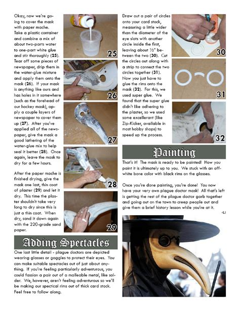 How To Make A Plague Doctor Mask With Paper Mache - plague doctor creepypasta