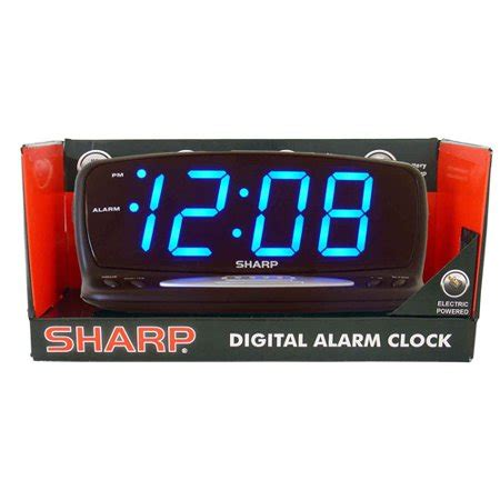 sharp blue jumbo led alarm clock black walmart
