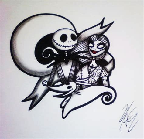 nightmare before christmas tattoo by angelosatelier on
