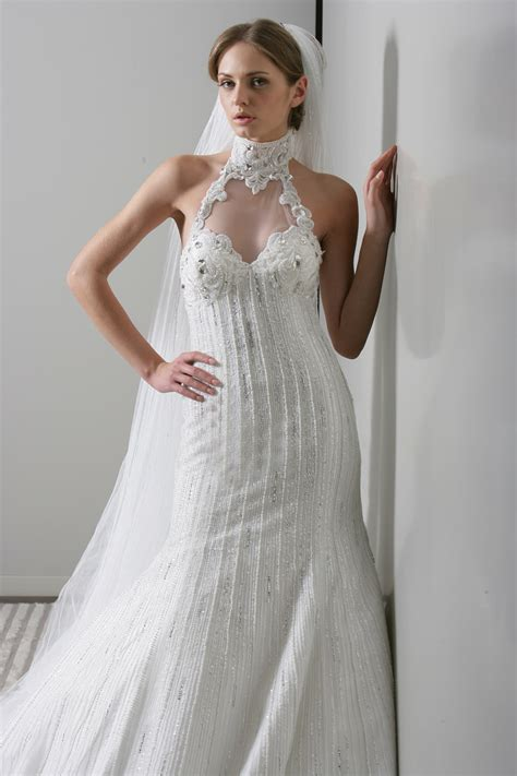 etuikleid hochzeitskleid wedding dress designs cleavage open
