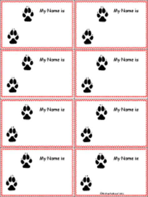 penguin nametags to print in color enchantedlearning com wolf tracks nametags to print in color