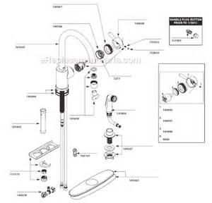 moen kitchen sink faucet parts moen 7106 parts list and diagram ereplacementparts
