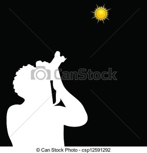 eps vectors of photographer photographing the sun vector