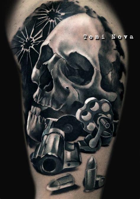 imagenes de calaveras nuevas calavera armas y balas tatuajes online