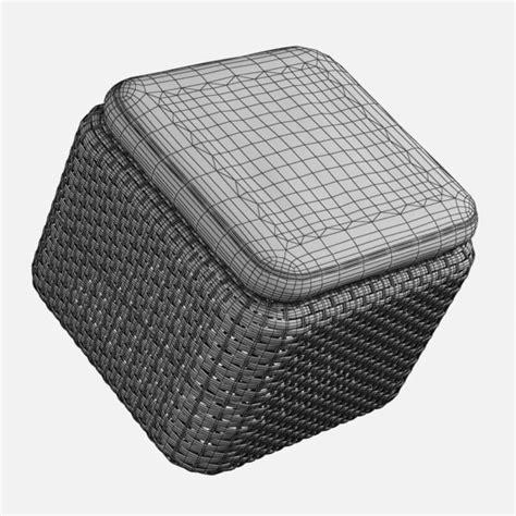 rattan pouf ottoman realistic rattan pouf ottoman 3d max