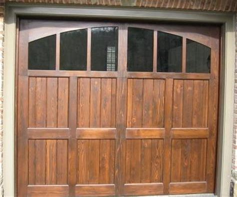 Garage Door Stain Beautiful Stained Wooden Garage Door Home