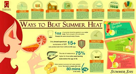 Some Tips For Summer by Tips For Beating Summer Heat Infographic Cretepost Gr