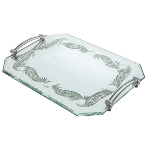 mirrored bathroom tray mirrored vanity tray at 1stdibs