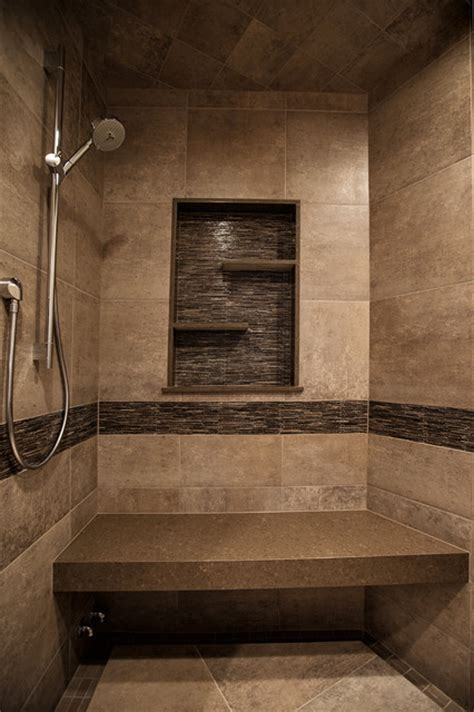 mountain home shower rustic bathroom denver by yk center inc