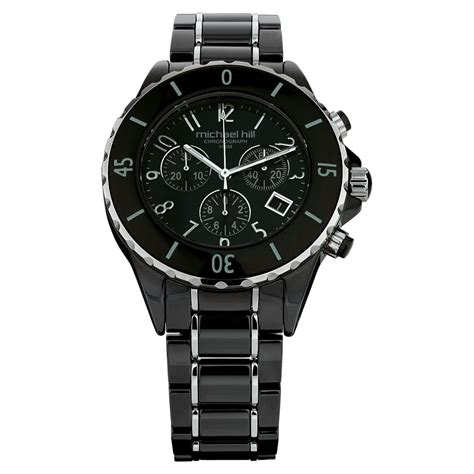 Black Unisex unisex in black ceramic stainless steel