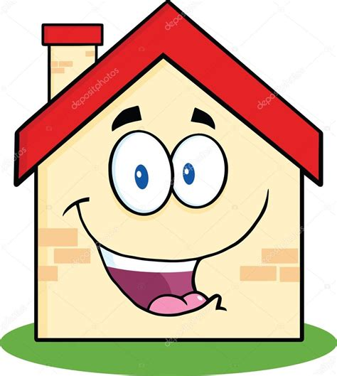 happy house cartoon character stock photo  hittoon