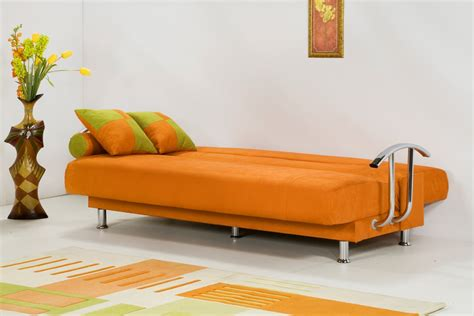 couch and bed furniture brenda orange sofa bed by kilim