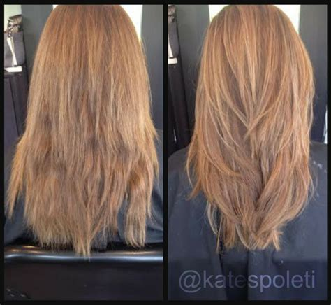 before and after layered haircuts 74 best images about hair by kate spoleti on pinterest