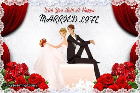 Wish You Both A Happy Married Life @ Fancy Greetings